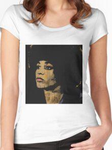 ANGELA DAVIS Women's Fitted Scoop T-Shirt