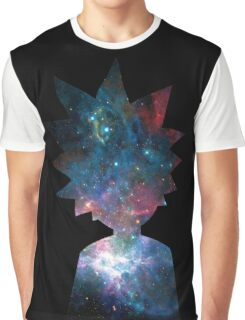 Rick and Morty Galaxy Design Graphic T-Shirt