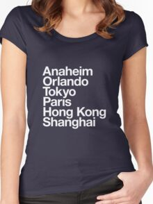 6 Magical Cities Women's Fitted Scoop T-Shirt