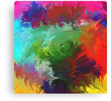 abstract art red orange pink green Canvas Print