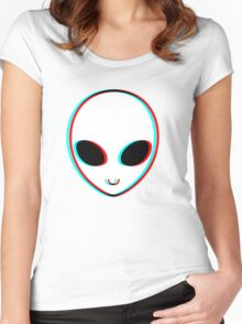 Trippy Alien Women's Fitted Scoop T-Shirt