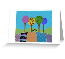 Black Cats - Colorful Landscape Greeting Card