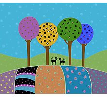 Black Cats - Colorful Landscape Photographic Print