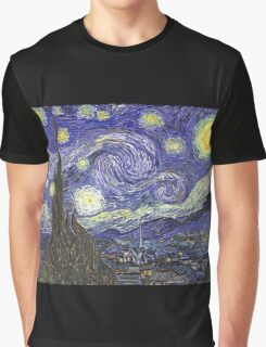 'Starry Night' by Vincent Van Gogh (Reproduction) Graphic T-Shirt