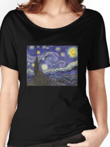 'Starry Night' by Vincent Van Gogh (Reproduction) Women's Relaxed Fit T-Shirt