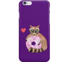 Raccoon Loves Giant Donut iPhone Case/Skin