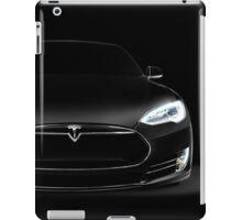 Black Tesla Model S luxury electric car front view art photo print iPad Case/Skin