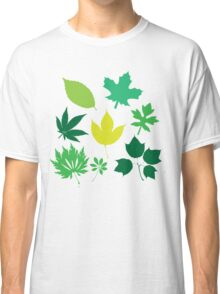 Spring Green Leaves Pattern Design Classic T-Shirt