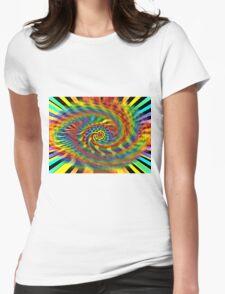 Rainbow Tornado Womens Fitted T-Shirt
