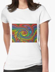 Rainbow Swirl  Womens Fitted T-Shirt