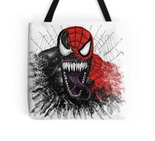 spiderman venom mash up Tote Bag