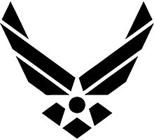 U.S. Air Force Logo Black Photographic Print