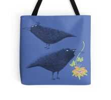 Lovebirds with flower courtship Tote Bag