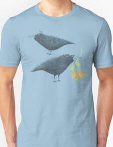 Lovebirds with flower courtship T-Shirt