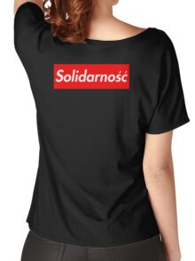 Solidarność Logo (Solidarity - Poland) Women's Relaxed Fit T-Shirt