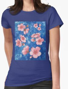 Pink Flowers for Baby Room Womens Fitted T-Shirt