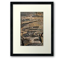 Rock Patterns at The Gap WA Framed Print