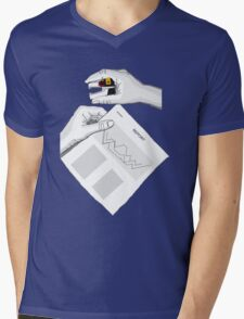 Voltron in the office Mens V-Neck T-Shirt