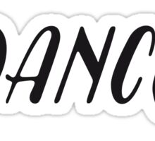 Dance black Sticker