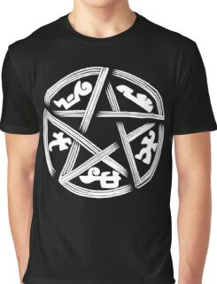 Supernatural Devils Trap Funny Men's Tshirt Graphic T-Shirt