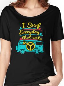 Surf Everyday Funny Men's Tshirt Women's Relaxed Fit T-Shirt