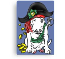 Pirate English Bull Terrier Canvas Print