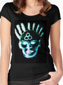 Colheart - Blue Women's Fitted Scoop T-Shirt