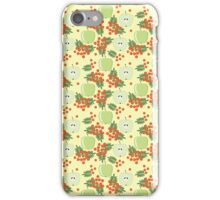 Cute autumn pattern with apples and rowan  iPhone Case/Skin