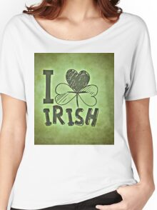 "St Patrick's Day ""I Love Irish"" Women's Relaxed Fit T-Shirt"