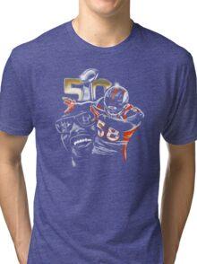 Von Miller Dab on Em Tri-blend T-Shirt