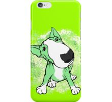 Green English Bull Terrier Swirl iPhone Case/Skin