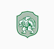 Green Turtle Fighter Mascot Shield Retro Unisex T-Shirt