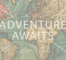 Adventure Awaits World map Sticker