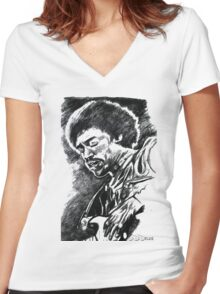 The Magic Guitar Women's Fitted V-Neck T-Shirt