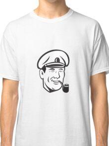Sea Captain Smiling Smoke Pipe Retro Classic T-Shirt