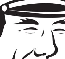 Sea Captain Smiling Smoke Pipe Retro Sticker