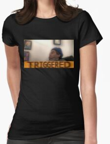 Triggered h3h3 Womens Fitted T-Shirt