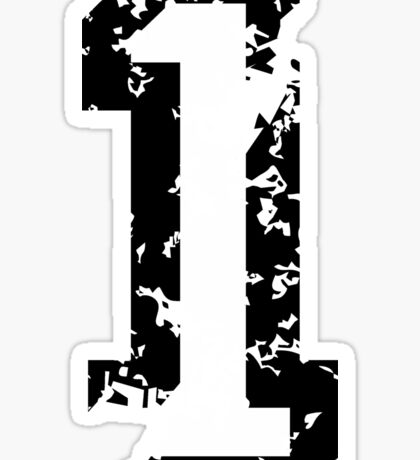 The Number One - No. 1 (two-color) white Sticker