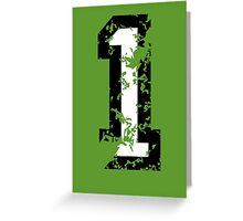 The Number One - No. 1 (two-color) white Greeting Card