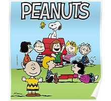PEANUTS SNOOPY CHARLIE BROWN HAPPY Poster