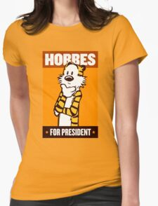 HOBBES FOR PRESIDENT Womens Fitted T-Shirt