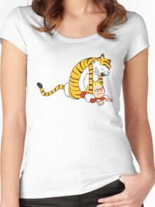 CALVIN & HOBBES : CATCH YOU! Women's Fitted Scoop T-Shirt