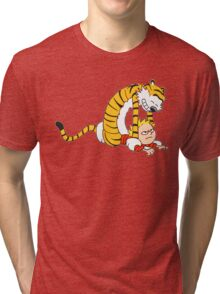 CALVIN & HOBBES : CATCH YOU! Tri-blend T-Shirt