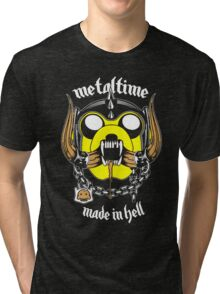 Metal time : made in Hell Tri-blend T-Shirt