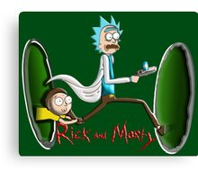 Rick End Morty - PORTAL Canvas Print