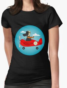 Pilot Dog Womens Fitted T-Shirt