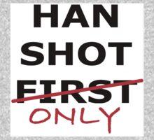 Han Shot Only Baby Tee