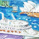 Big Ship at Circular Quay by John Douglas