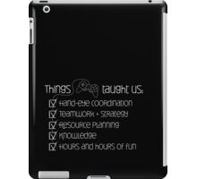 Things games taught us iPad Case/Skin