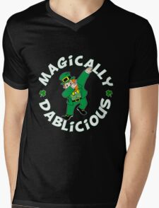 Dab Leprechaun Mens V-Neck T-Shirt